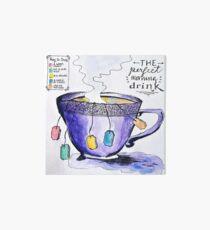 tea Art Board Print