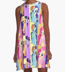 Worried Ponies A-Line Dress