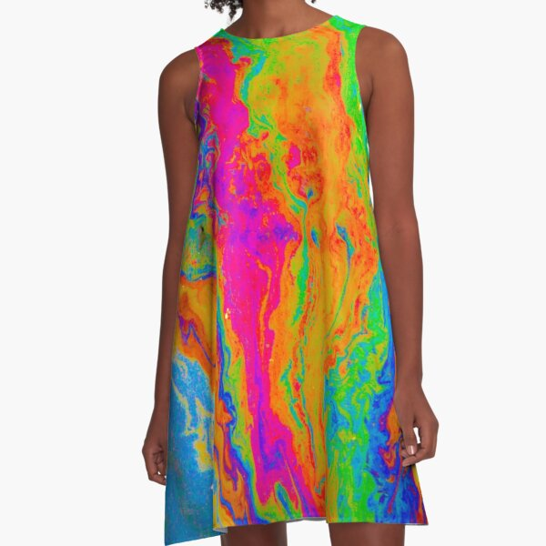 Tie Dye Pride A-Line Dress