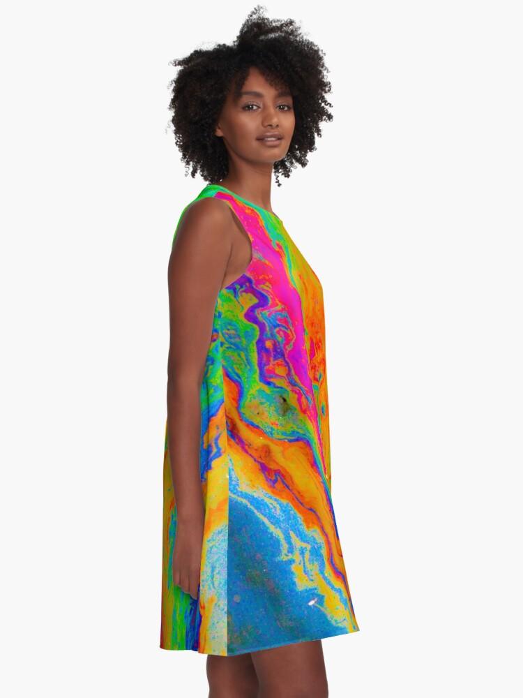 Alternate view of Tie Dye Pride A-Line Dress