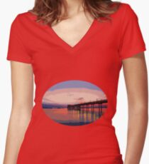 Dawn of a new day Women's Fitted V-Neck T-Shirt