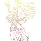 Berlin Angel-Single Line by artkarthik