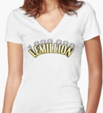 LEMILLION/Mirio Togata Title (Black Shadow Ver.) Women's Fitted V-Neck T-Shirt