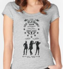 Apocalypse Now - USO Playbunny Show HD Army Edition Variant Women's Fitted Scoop T-Shirt
