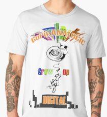 Born analogic grow up digital. Men's Premium T-Shirt
