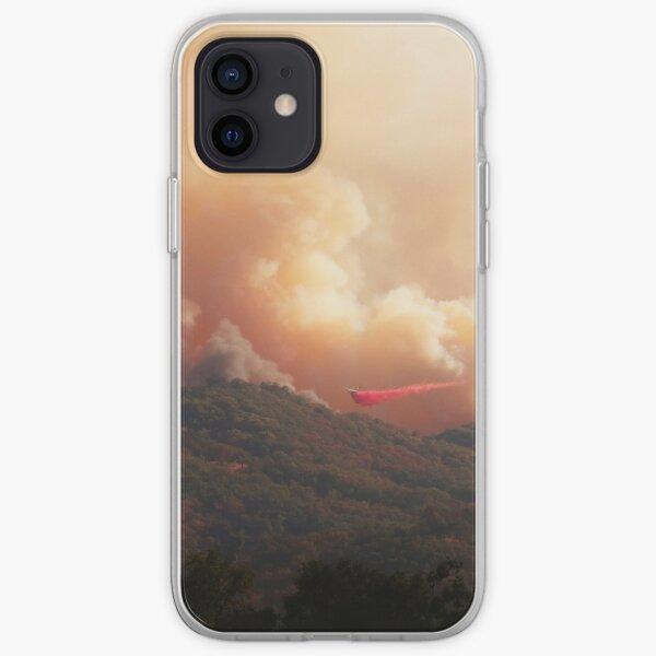Black Bart Wildfire near Lake Mendocino California iPhone Soft Case