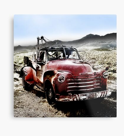 old red tow truck, route 66, cool springs, arizona Metal Print