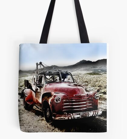 old red tow truck, route 66, cool springs, arizona Tote Bag