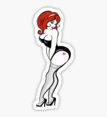 Curvy Redhead Sticker