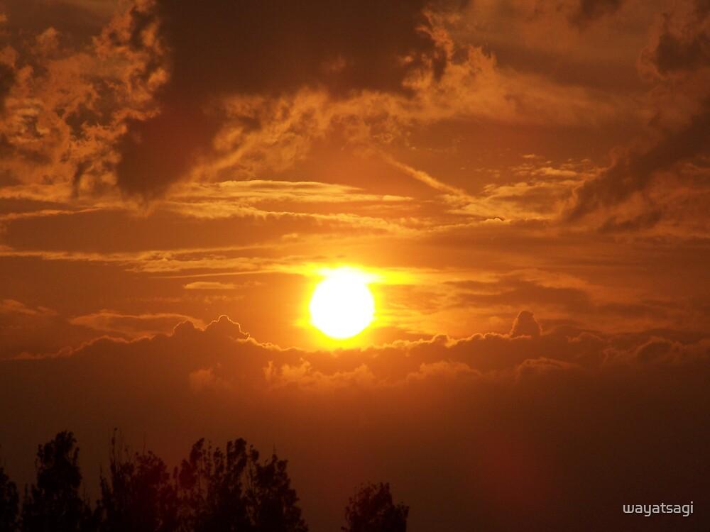 Sky on Fire by wayatsagi