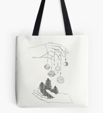 Planets Above the Trees Tote Bag