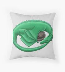 Dragon's Cat Nap Throw Pillow