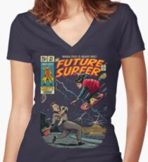 Future Surfer Women's Fitted V-Neck T-Shirt