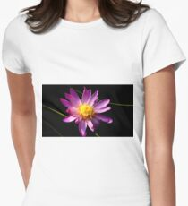 Mauve Waterlily Womens Fitted T-Shirt