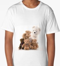 teddy bear family Long T-Shirt