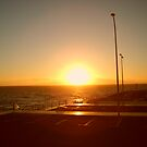Sunset over Puerto Colon Tenerife by AngelaClaire