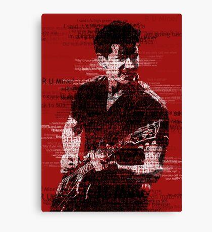 Alex Turner Typography (Red) Canvas Print