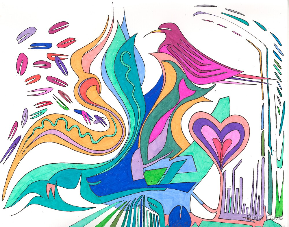 Love bird of Peace by Roger  Davis