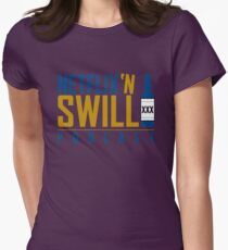 Netflix 'N Swill College Colors Logo Women's Fitted T-Shirt