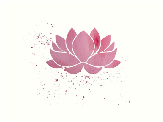 Pink Buddhist Lotus Flower Art Print By Whoiusedtobe Redbubble