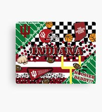 INDIANA COLLAGE Canvas Print