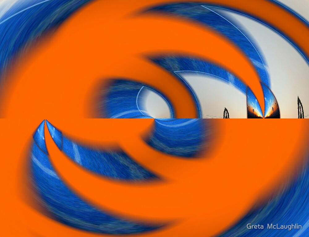 Orange & Blue by Greta  McLaughlin