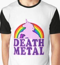 Funny! death metal unicorn (vintage distressed) Graphic T-Shirt