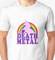 Funny! death metal unicorn (vintage distressed) T-Shirt