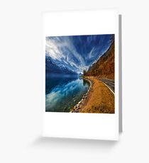 Road To No Regret Greeting Card