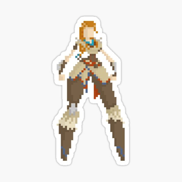 Aloy - Horizon Zero Dawn 8Bit Sticker