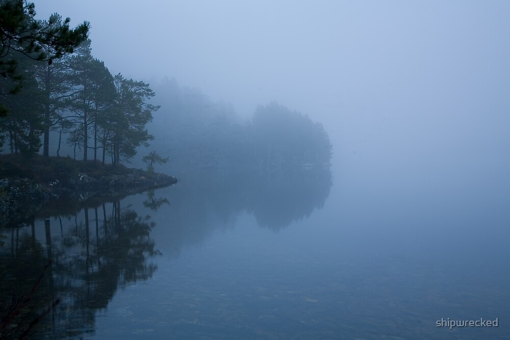 misty lake #3 by shipwrecked