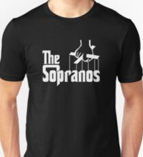 The Sopranos Logo (The Godfather mashup) (White) T-Shirt