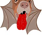 Bat Dog! Vampire Puppy Cartoon Monster by theartofvikki