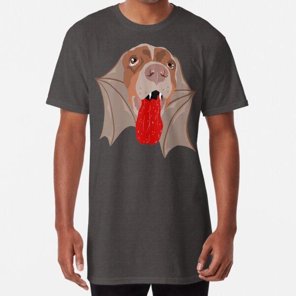 Bat Dog! Vampire Puppy Cartoon Monster Long T-Shirt