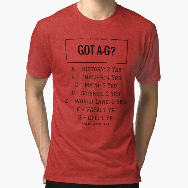 Got A-G? CA CSU/UC College Items Tri-blend T-Shirt
