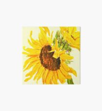 sunflower watercolor painting macro Art Board