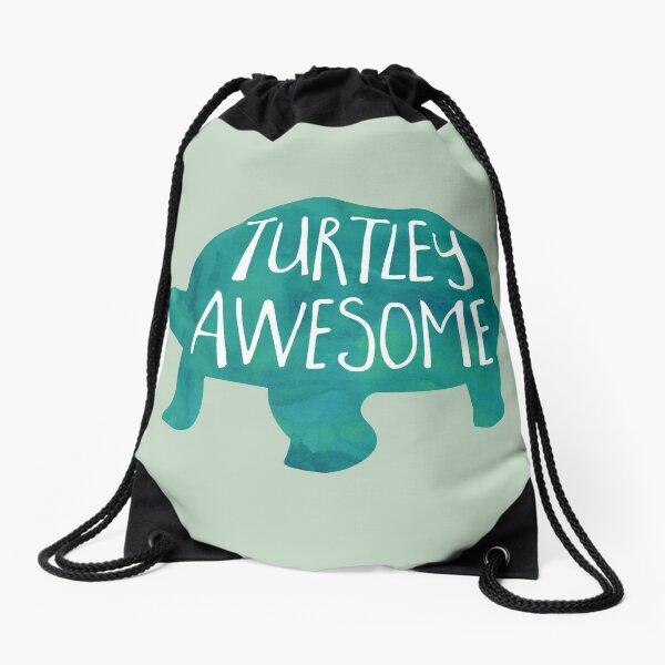 Turtley Awesome - Pun Drawstring Bag