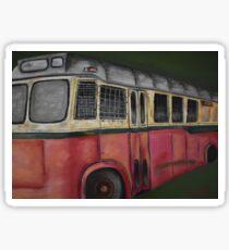 Old Bus Staying Put  Sticker