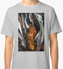 Black, white, orange and gold abstract art Classic T-Shirt
