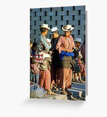 Maya men chating Greeting Card