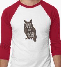 Owl By Myself - Pun Men's Baseball ¾ T-Shirt