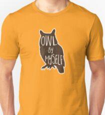 Owl By Myself - Pun Unisex T-Shirt
