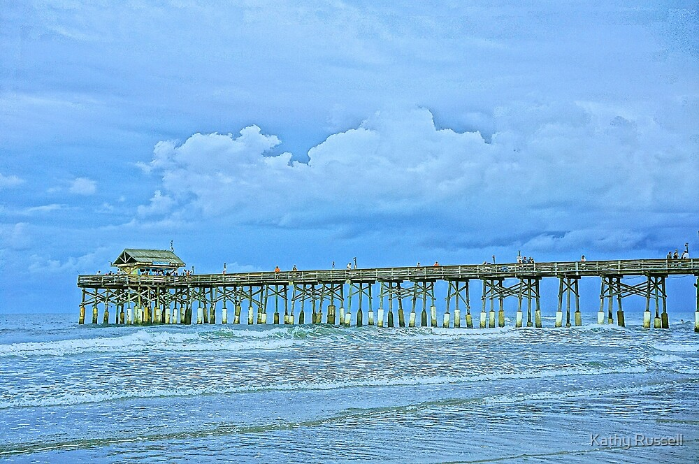 Pier on the Beach by Kathy Russell