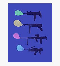 Bubble Guns Photographic Print