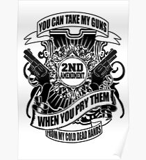 You Can Take My Guns When You Pry Them From My Cold Dead Hands Poster