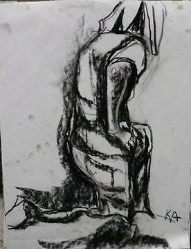 Charcoal Figure by kambler