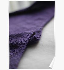 Purple knitted fabric Poster