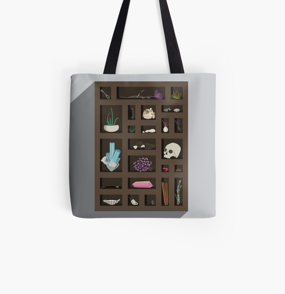 Cabinet of Curiosities All Over Print Tote Bag