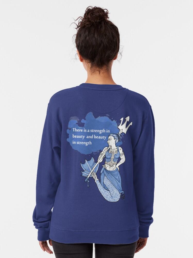 Alternate view of Warrior Mermaid Pullover Sweatshirt