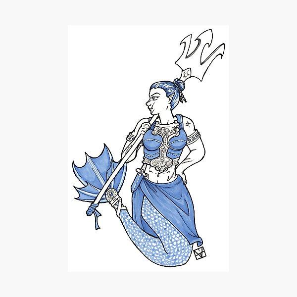 Warrior Mermaid Photographic Print